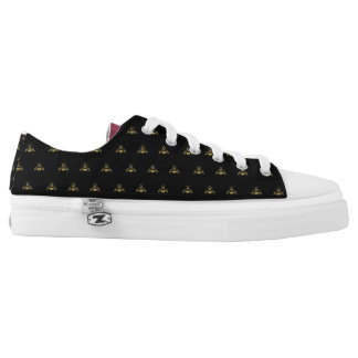 The Emperor's Bees on Lace Up Sneakers black w/c