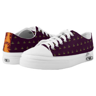 The Emperor's New Bees - lace-up sneakers purple