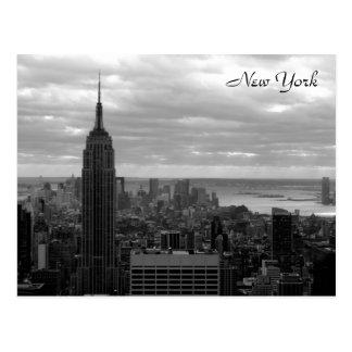 The Empire State Black White Postcard