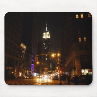 The Empire State Building at Night Mouse Pads