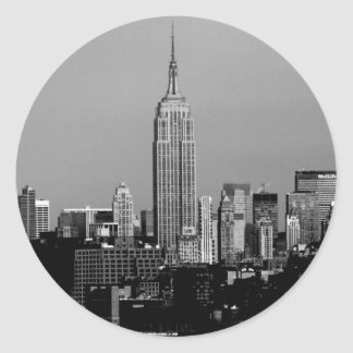 The Empire State Building Classic Round Sticker