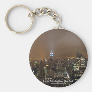The Empire State Building, New York Basic Round Button Keychain