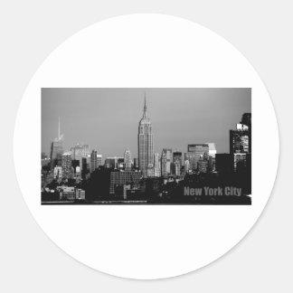 The Empire State Building Round Sticker