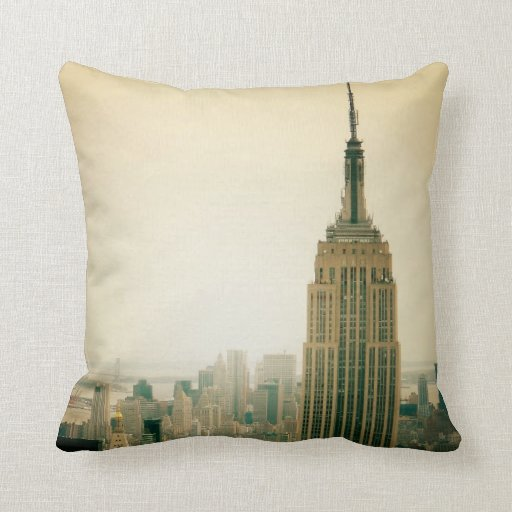 The Empire State Building Throw Pillows