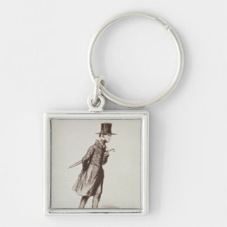 The Employee Silver-Colored Square Keychain