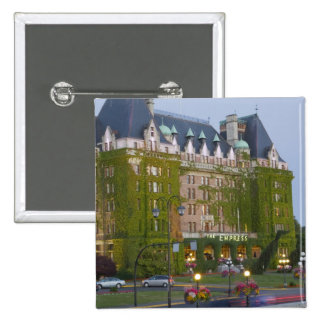 The Empress Hotel at the inner harbour in Pinback Button