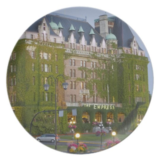 The Empress Hotel at the inner harbour in Melamine Plate