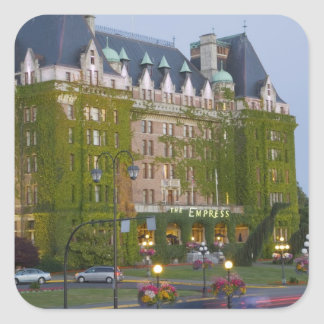 The Empress Hotel at the inner harbour in Square Sticker