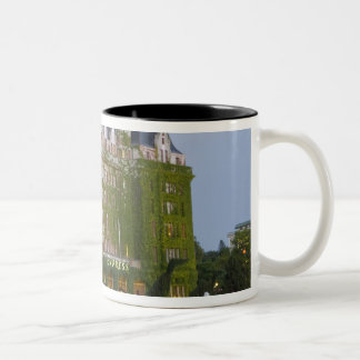 The Empress Hotel at the inner harbour in Two-Tone Coffee Mug