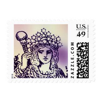 The Empress Tarot Card Stamp