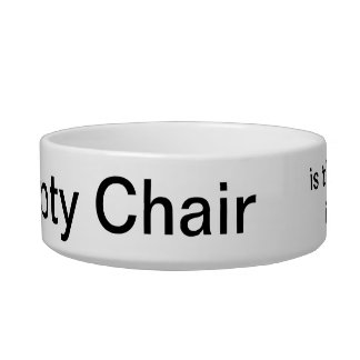 The Empty Chair Pet Bowl