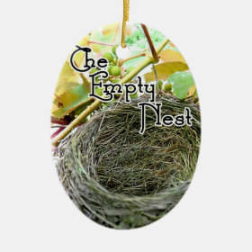 The Empty Nest Ceramic Ornament