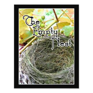 The Empty Nest 4.25x5.5 Paper Invitation Card