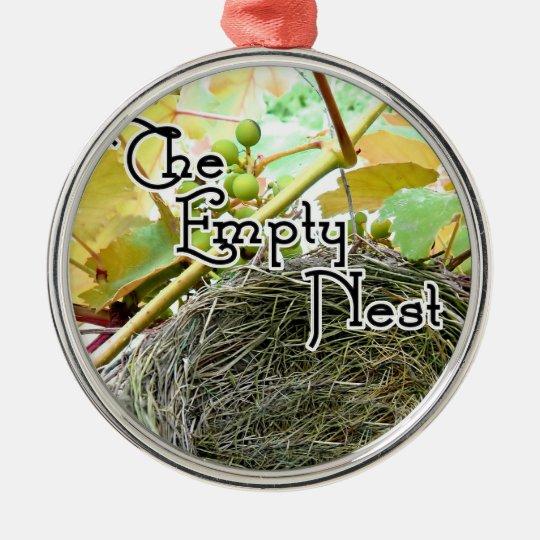 The Empty Nest Metal Ornament