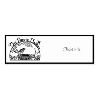 The Empty Nester Double-Sided Mini Business Cards (Pack Of 20)