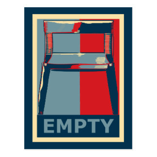 The Empty Obama Chair Funny Political Postcard