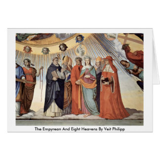 The Empyrean And Eight Heavens By Veit Philipp Greeting Card