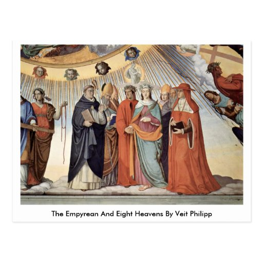 The Empyrean And Eight Heavens By Veit Philipp Postcard