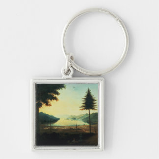 The Encampment at Lake George, New York, 1759 (oil Keychain