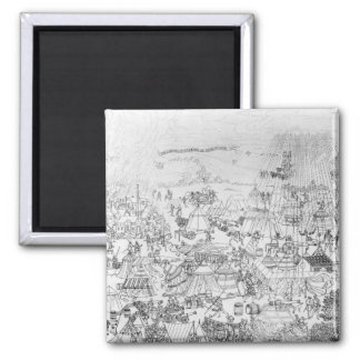 The Encampment of King Henry VIII at Marquison 2 Inch Square Magnet