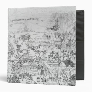 The Encampment of King Henry VIII at Marquison 3 Ring Binder