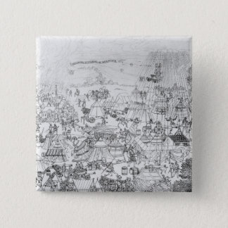 The Encampment of King Henry VIII at Marquison Pinback Button