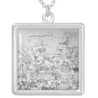 The Encampment of King Henry VIII at Marquison Silver Plated Necklace