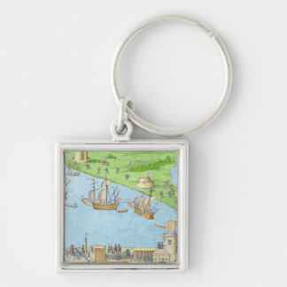 The Encampment of the English Forces Keychain