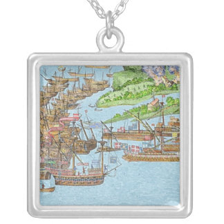 The Encampment of the English Forces Silver Plated Necklace