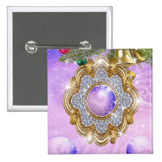 The Enchanted Amulet 2 Inch Square Button