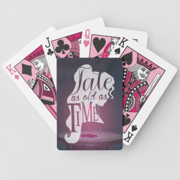 Disney Themed The Enchanted Rose | Tale As Old As Time Bicycle Playing Cards