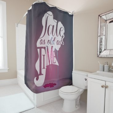 Disney Themed The Enchanted Rose | Tale As Old As Time Shower Curtain