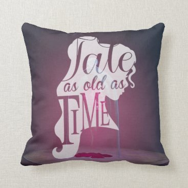 Disney Themed The Enchanted Rose | Tale As Old As Time Throw Pillow