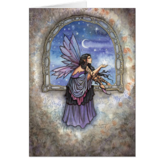 The Enchanted Window Fairy Fantasy Art Greeting Card
