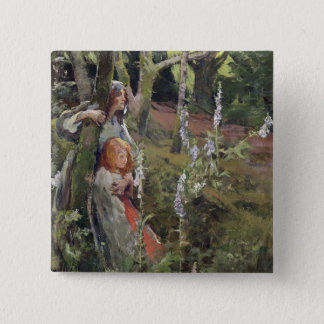 The Enchanted Wood (oil on canvas) Button