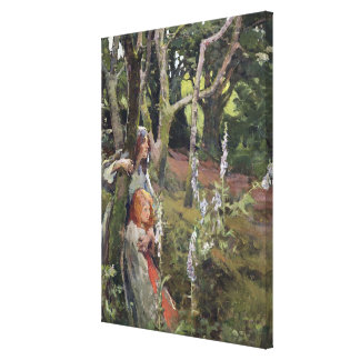 The Enchanted Wood (oil on canvas) Canvas Print