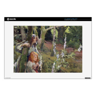 The Enchanted Wood (oil on canvas) Laptop Decal