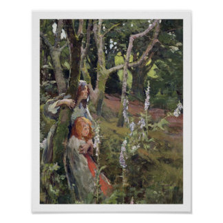 The Enchanted Wood (oil on canvas) Poster