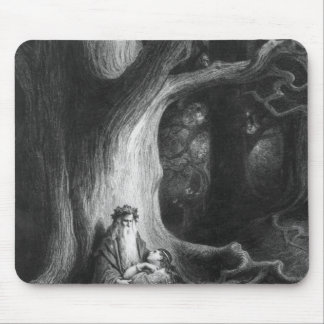 The Enchanter Merlin and the Fairy Vivien Mouse Pad