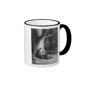 The Enchanter Merlin and the Fairy Vivien Coffee Mugs