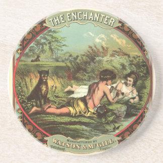 The Enchanter Watson & McGill - Cigarette Advertis Sandstone Coaster