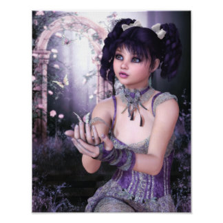 The Enchanting Butterflies Canvas/Poster Print