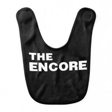 Beach Themed THE ENCORE bib from the Remix Encore Mic Drop Fa
