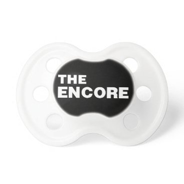Beach Themed THE ENCORE bib from the Remix Encore Mic Drop Fa Pacifier