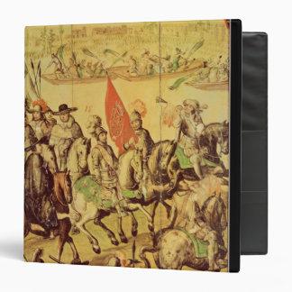 The encounter between Hernando Cortes Binders