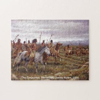 The Encounter, Native American (Blackfoot) puzzle