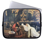 The end by James Tissot Laptop Sleeves