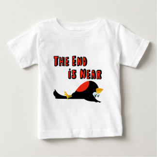 The End Is Near Falling Bird Baby T-Shirt