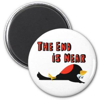The End Is Near Falling Bird Fridge Magnets