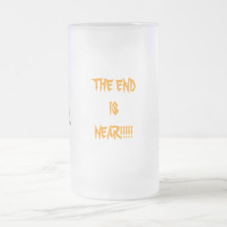 The End is Near!!! - Jack o'lantern with Hat Frosted Glass Beer Mug